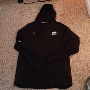 Dallas Stars ADIDAS sz LG pullover coat, $112.00